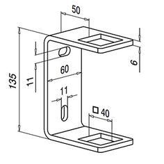 Square Line Rectangular Post Bracket Technical Drawing Mechanical Engineering Design, Mechanical Design, Sheet Metal Drawing, Square Drawing, Learn Autocad, Bathroom Towel Decor, Interesting Drawings, Autodesk Inventor, How To Draw Steps