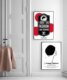 Inspirational Print Coco Chanel Chanel Poster by BitterMoonStudio