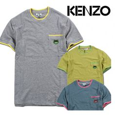 "Simple pocket tees by Kenzo! Check out this Kenzo Paris ""Tiger Pocket"" T-Shirt Collection at fusionswag.com #fusionswag #Kenzo #tees #tshirt #streetfashion #streetwear #urbanwear"