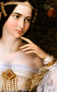 Moritz Daniel Oppenheim - Marriage Portrait of Charlotte de Rothschild, 1836