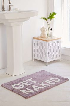 Get Naked Bath Mat - Urban Outfitters