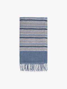 foulard rocco bleu et gris en lin et cotton Cotton, Home Decor, Gray, Headscarves, Blue, Decoration Home, Room Decor, Home Interior Design, Home Decoration