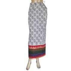 Summer Spring Cotton Printed Skirt Long Casual Clothing 20