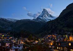 Zermatt noaptea.
