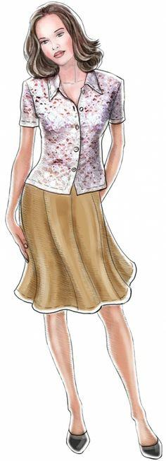 Six-gusset Skirt | Lekala Sewing Patterns #sewing #skirt #custom
