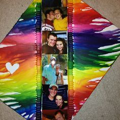 Melted crayons with pictures of me and my bf in the middle:)