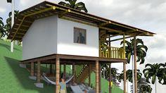 Casa indígena Palafitica en madera y bambú Guadua - YouTube