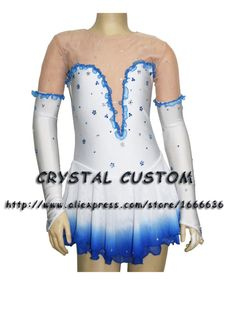 Aliexpress.com : Buy Hot Selling Ice Skating Dresses For Girls Spandex Graceful New Brand Figure Skating Competition Dress Customized DR2662 from Reliable dress up brides and weddings suppliers on Crystal Professional Custom Figure Skating Dresses Store