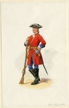 The Queen Consort's Own Regiment of Dragoons c. 1700 by P.W. Reynolds