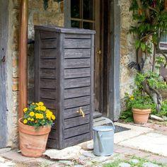 Regenwasserspeicher 250 Liter Blumen Gemüse Garten UV-beständig PVC Wassertank