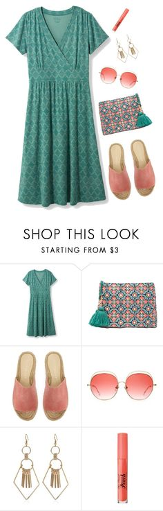 """""""Peachy Green"""" by musicfriend1 ❤ liked on Polyvore featuring L.L.Bean, Star Mela, Mint Velvet and Too Faced Cosmetics"""
