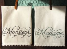 Madame and Monsieur by seechriscreate on Etsy