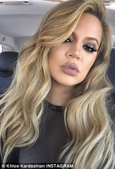Then and now: Khloe chopped of her long blonde waves, left, in favor of a trendy long bob