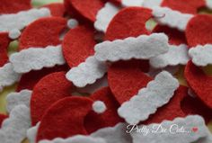 Felt Santa Hats Mini Red Felt Christmas Hats by PrettyDieCuts
