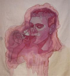 Beautiful wine stain solutions by artist Amelia Fais Harnas