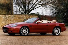 Red Cabriolet Aston Martin DB7 Volante Aston Martin Db7, Car Wallpapers, Convertible, North America, Pictures, Red, Photos, Infinity Dress, Grimm