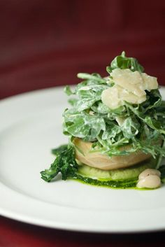 Warm Artichoke Heart with Great Northern White Beans, Arugula and Parmesean