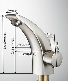 Greenspring Modern Curve Brass Bathroom Sink Faucet Brushed Nickel Centerset Mixers Tap Basin Vanity Faucets For lavatory - - Amazon.com