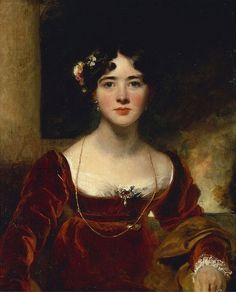 Sir Thomas Lawrence 'Portrait of Mrs. John Allnutt'  http://fleurdelisquilts.blogspot.com/2015/06/pin-it-weekly-110.html