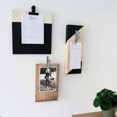 Je kunt je foto's, posters en to-do lijstjes natuurlijk aan de koelkast of op een prikbord hangen. Maar aan een DIY klembord staat het toch net even wat stoerder. Zie link in bio voor de instructies. #DIY #klembord #KARWEI