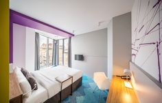 Colorful Hotel in Ukraine Salutes Dynamic City Life - http://freshome.com/colorful-hotel-ukraine/
