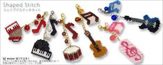Seed Bead musical instrument charms