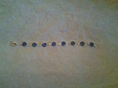 """September Sapphire Infant birthstone bracelet 5"""""""