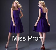 A-line Strapless Short/Mini Chiffon Popular Prom Dress with sashes bow lace up back