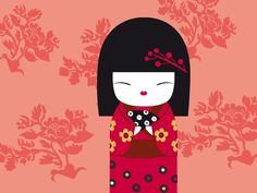 kokeshi dolls - Page 2 Momiji Doll, Kokeshi Dolls, Matilda, Chinese Party, Japan Crafts, Pen Pal Letters, Mac Wallpaper, Japanese Illustration, Kawaii