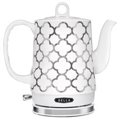 BELLA 1.2L Electric Ceramic Tea Kettle with detachable base and boil dry protection >>> This is an Amazon Affiliate link. Read more reviews of the product by visiting the link on the image.