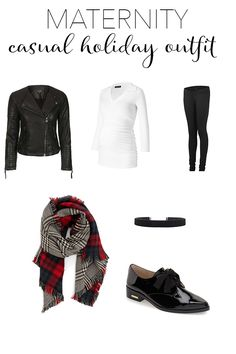 A casual maternity outfit for the holidays - those ponte pants are pretty much leggings...but cooler.