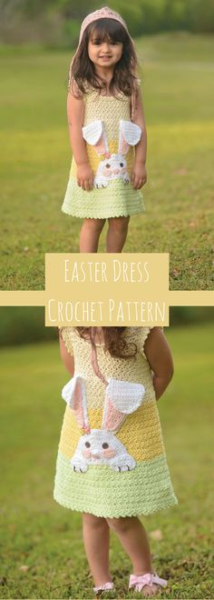 So Hoppy Sundress Crochet Pattern- Easter Dress Crochet Pattern - Easter Crochet Patterns - Download Available after Purchase #ad