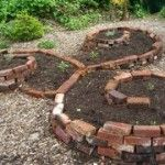 How to make raised beds. Love the look of this curly brick one!