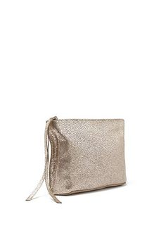 gilded leather pouch