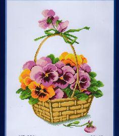 Pansy basket 1/3 Gallery.ru / Фото #114 - 200 - markisa81