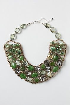 smoky quartz, aventurine, pearls, Czech crystals, glass, rhodium @ anthropologie