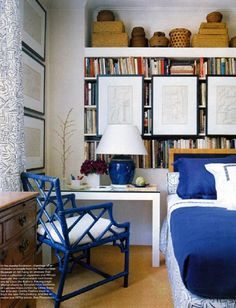 Decorating the home with blue on pinterest blue and for Cobalt blue bedroom ideas