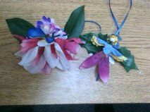 Flower Fairies Workshop description: This is even for the craft impaired. Come and play with pipe cleaners and flowers to make amazingly beautiful flower fairies. Bring your imagination!