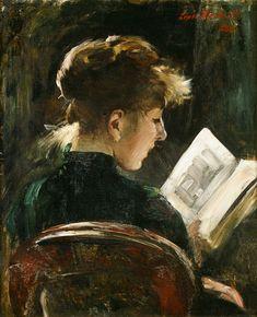 Corinth, Lovis : Lesendes Mädchen