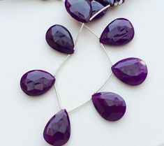 Purple Chalcedony Purple Chalcedony Faceted Pear by gemsforjewels
