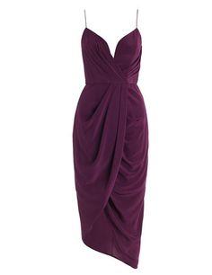 Silk Plunge Short Dress - Oxblood - Venus & Mars Online