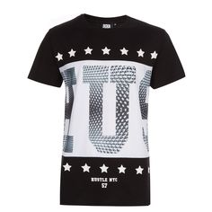 """Beck & Hersey"" Black & White Statement T-Shirt - TK Maxx - that should be mine! Timberland Outfits Men, Cool T Shirts, Tee Shirts, T Shirt Vest, Tk Maxx, Men Street, Men Looks, Branded T Shirts, Shirt Designs"
