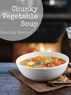Chunky Vegetable Soup recipe. This is a great warming and comforting healthy recipe for January
