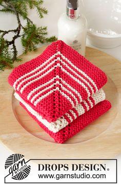 Holiday face / drops extra - free knitting patterns from drops design. Dishcloth Knitting Patterns, Knit Dishcloth, Free Knitting, Drops Design, Yarn Projects, Knitting Projects, Drops Paris, Magazine Drops, Knit Crochet