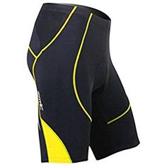 Santic Cycling Men's Shorts Biking Bicycle Bike Pants Half Pants Coolmax Padded Yellow M Best Cycling Shorts, Cycling Underwear, Bike Pants, Allbirds Shoes, Riding Pants, Biking, Tights, Bicycle, Men's Shorts