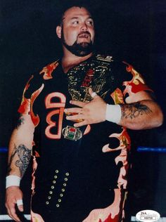 ECW World Heavyweight Champion Bam Bam Bigelow Wwf Superstars, Wrestling Superstars, Bam Bam Bigelow, Ecw Wrestling, Wwe Royal Rumble, Rick And Morty Poster, Beast From The East, Ric Flair, Professional Wrestling