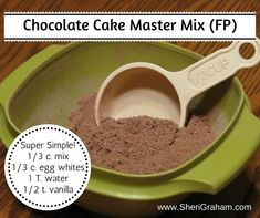 Chocolate Cake Master Mix {THM-FP} - Make these chocolate cakes in a flash with this master mix!