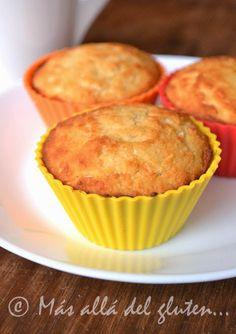 Más allá del gluten...: Muffins Con Coco (Receta GFCFSF, Vegana)