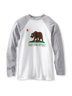 61% OFF LA Lounge Boy\'s California Bear Raglan Tee (Heather)