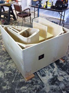 Folded bass horn - The Paper Horn by Inlow Sound Custom Speaker Boxes, Speaker Plans, Horn Speakers, Speaker Design, Loudspeaker, Audio System, Car Audio, Toy Chest, Bass